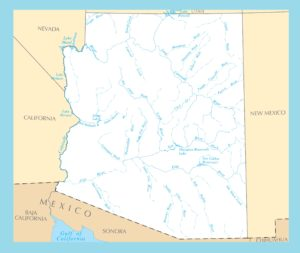 Arizona River Map | Large Printable and Standard Map 2