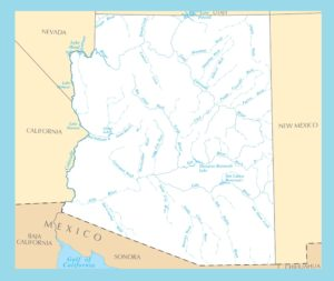 Arizona River Map | Large Printable and Standard Map-3