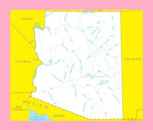 Arizona River Map | Large Printable and Standard Map 5