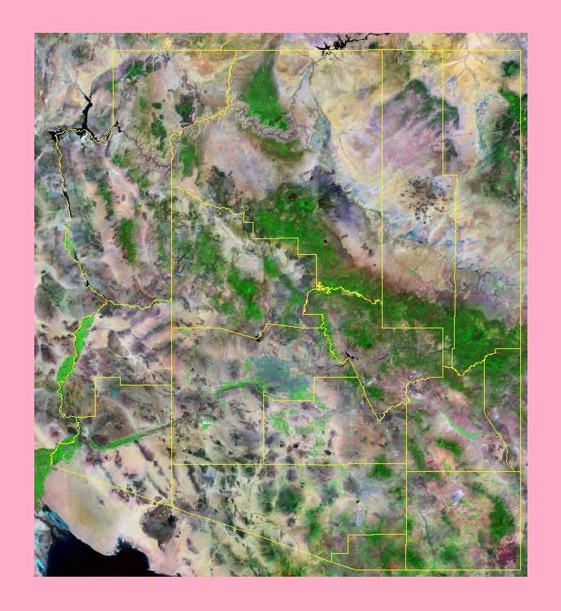 Arizona Satellite Map | Large Printable and Standard Map