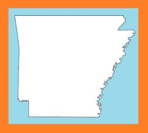 Arkansas Blank Outline Map | Large Printable and Standard Map