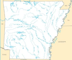 Arkansas River Map | Large Printable and Standard Map