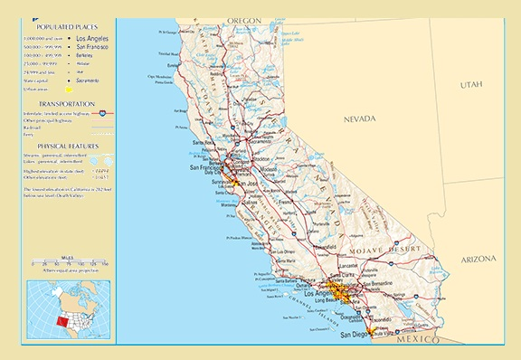 California Details Map | Large Printable and Standard Map