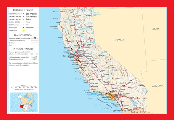 California Reference Map | Large Printable and Standard Map