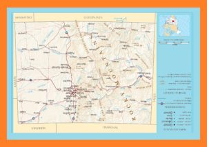 Colorado Political Map | Large Printable and Standard Map
