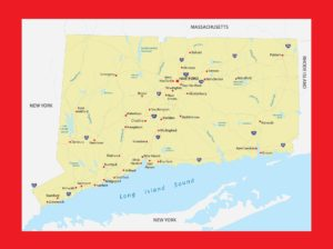 Connecticut Physical Map | Large Printable and Standard Map