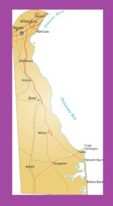 Delaware Political Map | Large Printable and Standard Map 2