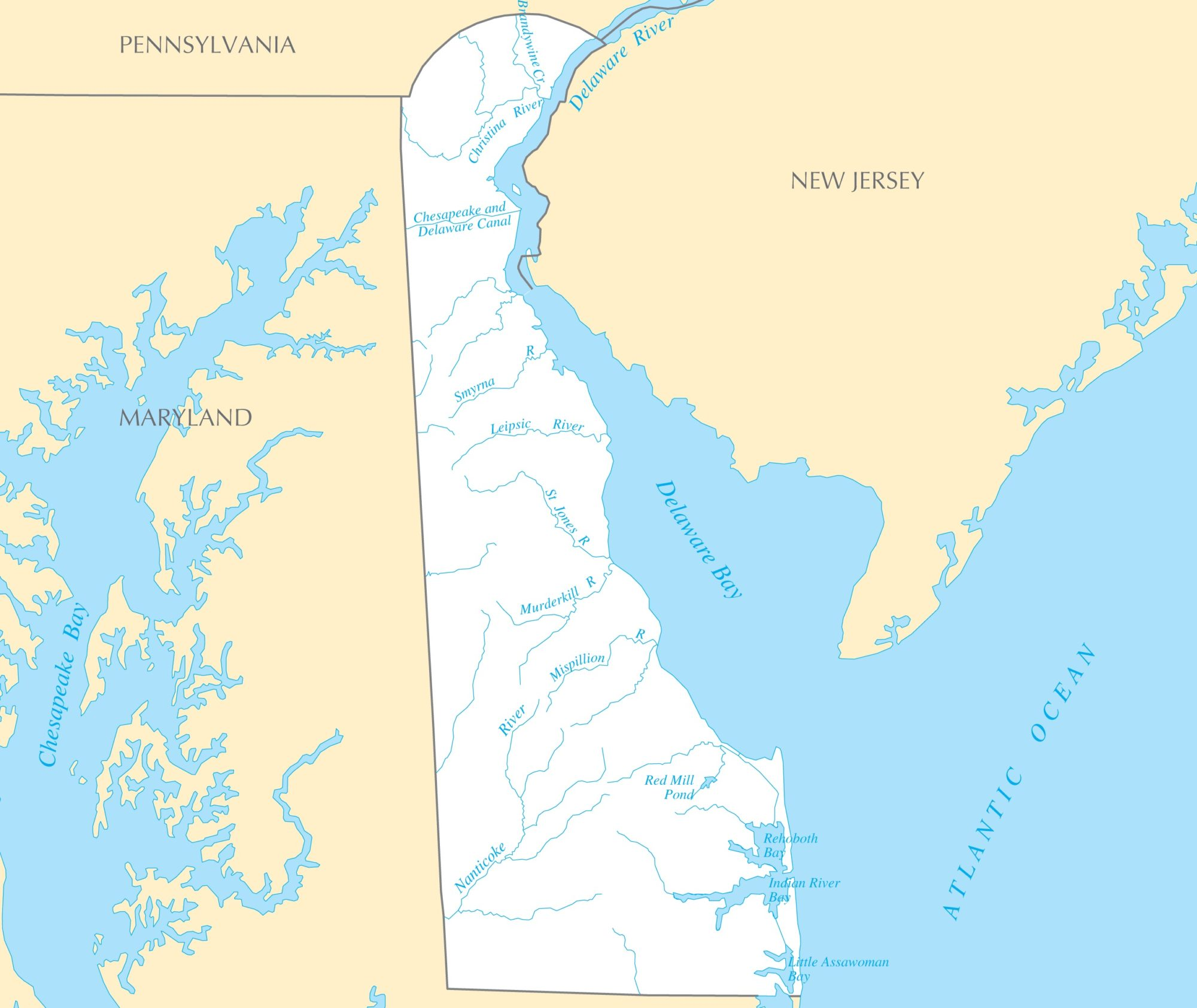 Delaware River Map | Large Printable and Standard Map 2