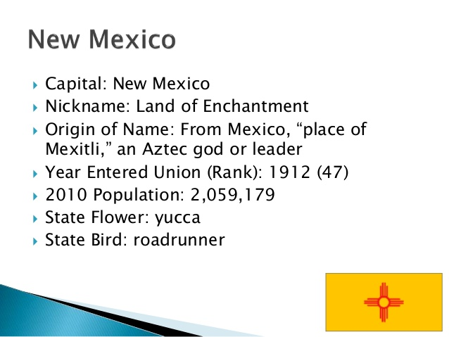 Facts About New Mexico State