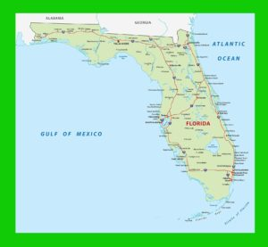 Florida Political Map   Large Printable and Standard Map 3