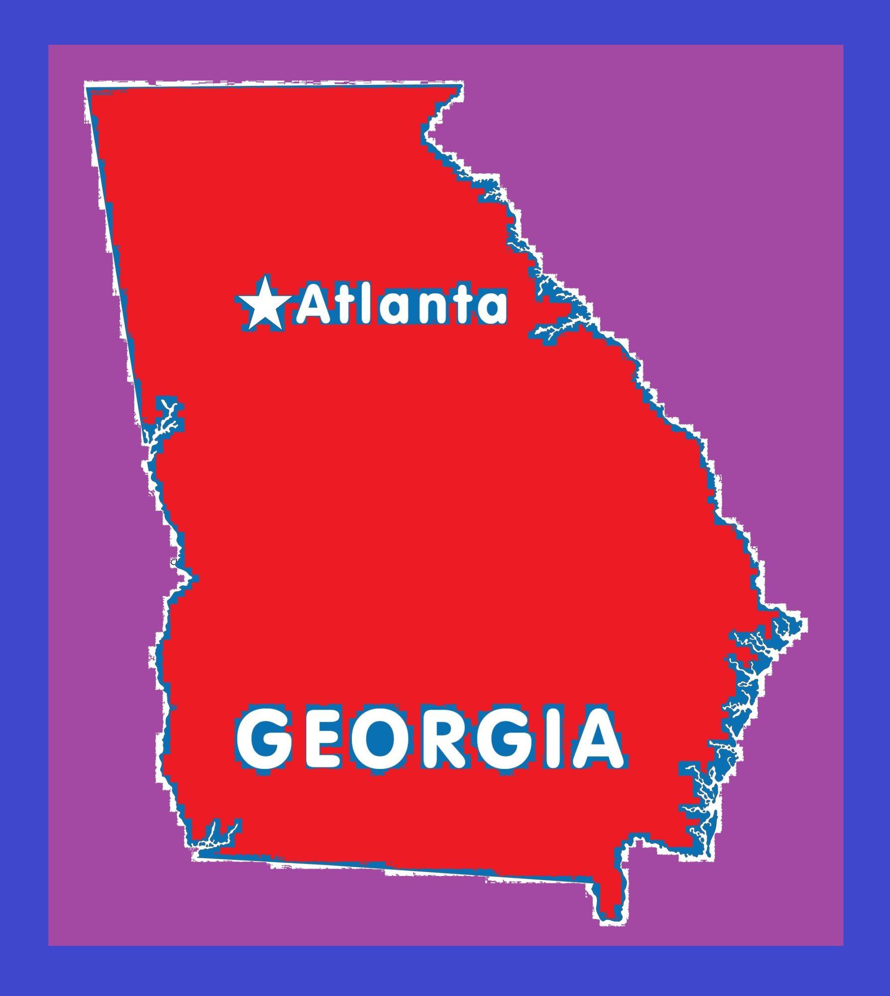 Georgia Capital Map | Large Printable and Standard Map 2