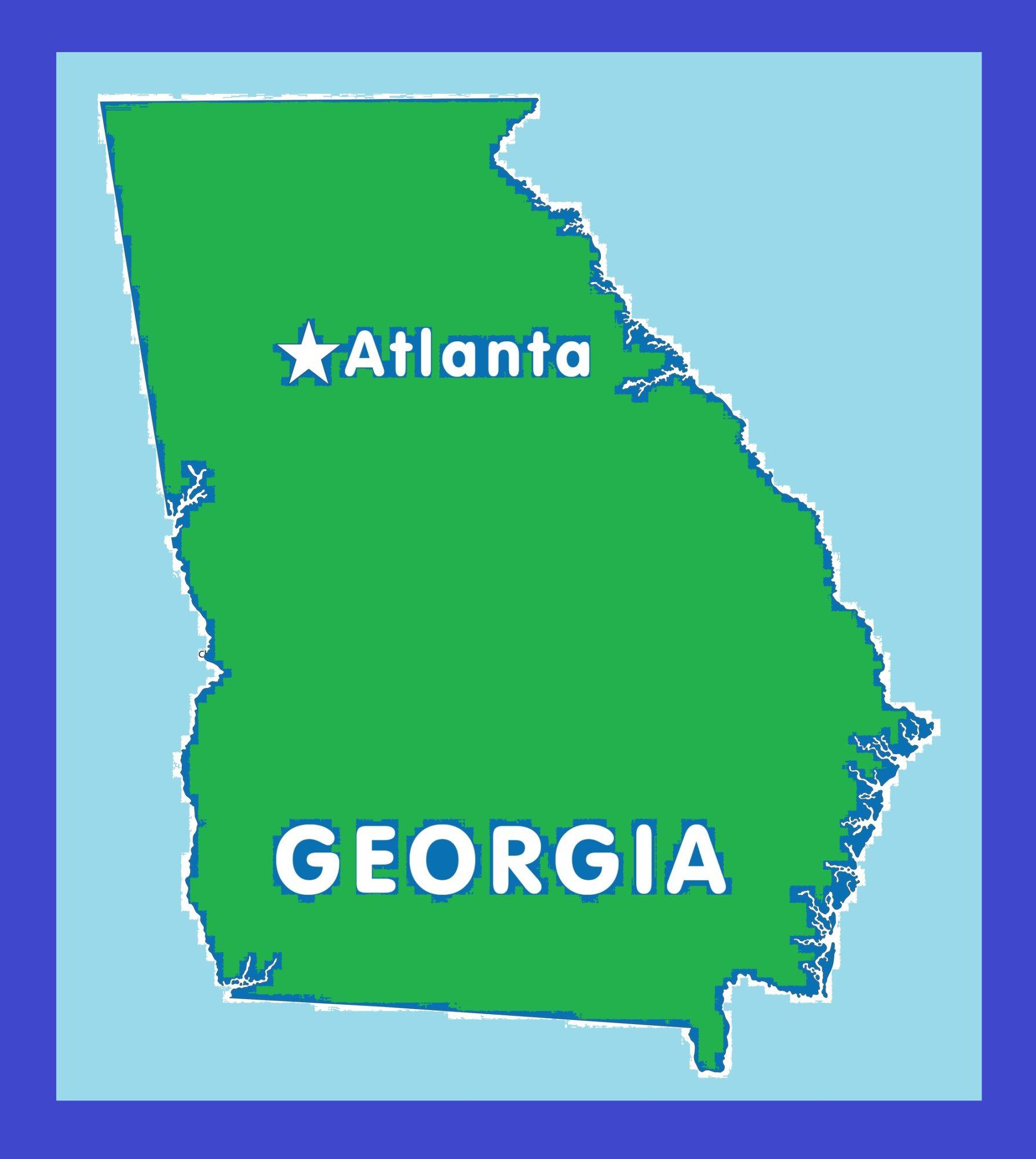 Georgia Capital Map | Large Printable and Standard Map 11