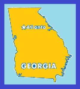 Georgia Capital Map   Large Printable and Standard Map 15