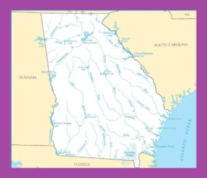 Georgia River Map | Large Printable and Standard Map
