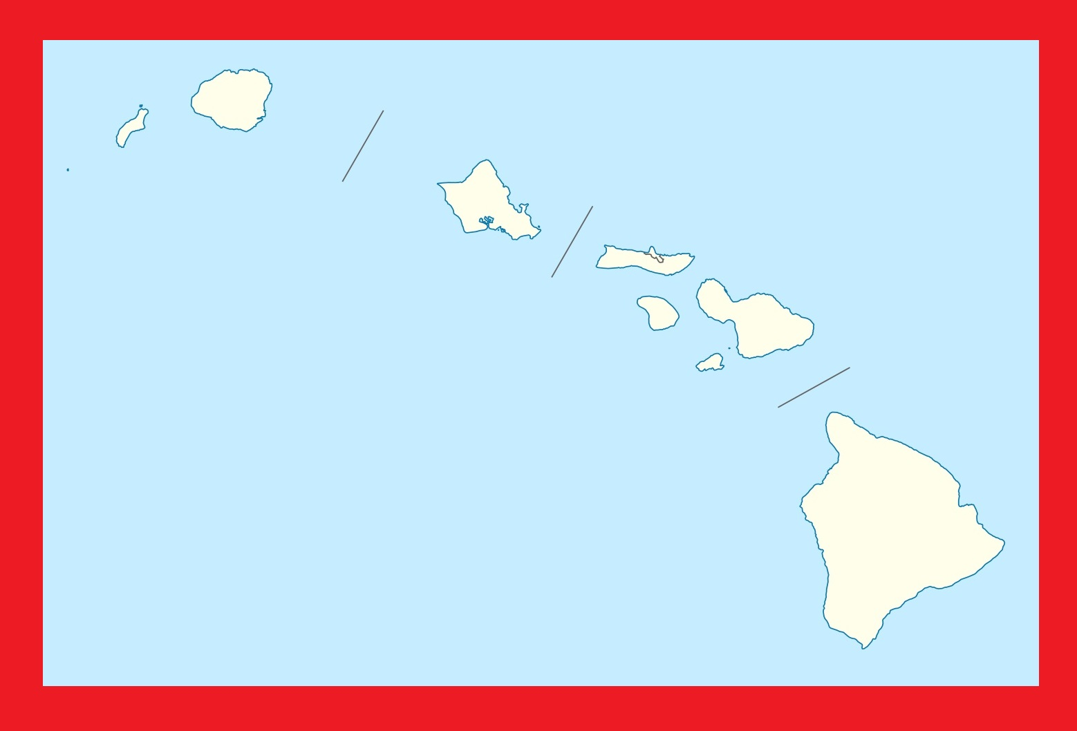 Hawaii Blank Outline Map | Large Printable and Standard Map 2