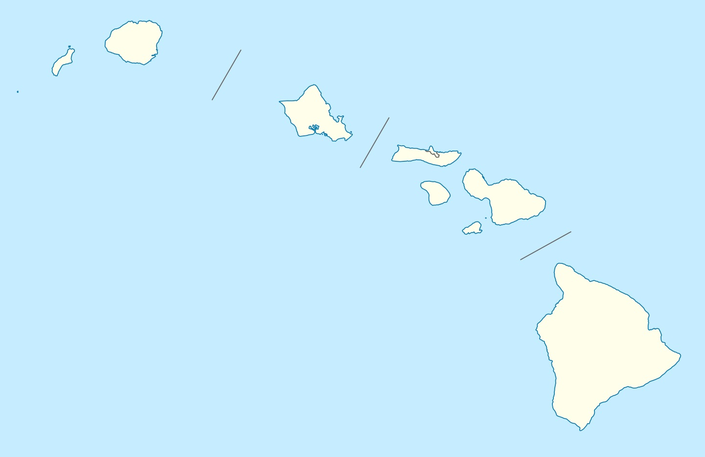 Hawaii Blank Outline Map | Large Printable and Standard Map