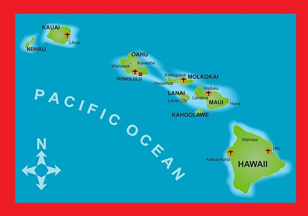 Hawaii City Map   Large Printable and Standard Map 2
