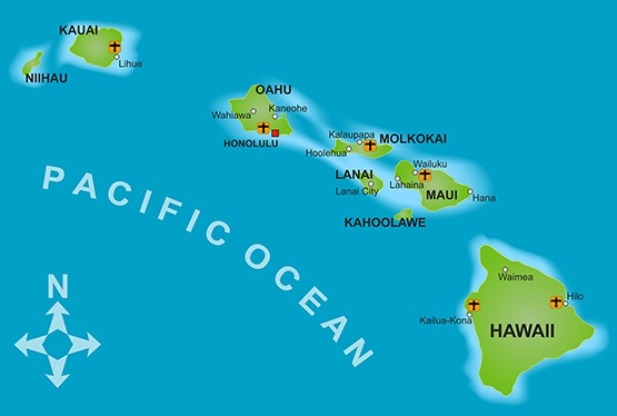Hawaii City Map | Large Printable and Standard Map