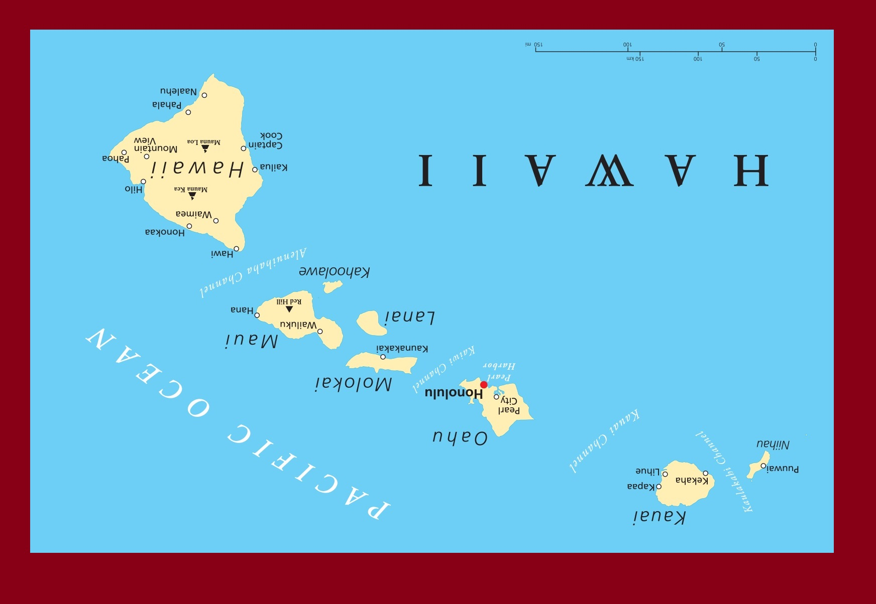 Hawaii Details Map   Large Printable and Standard Map 2