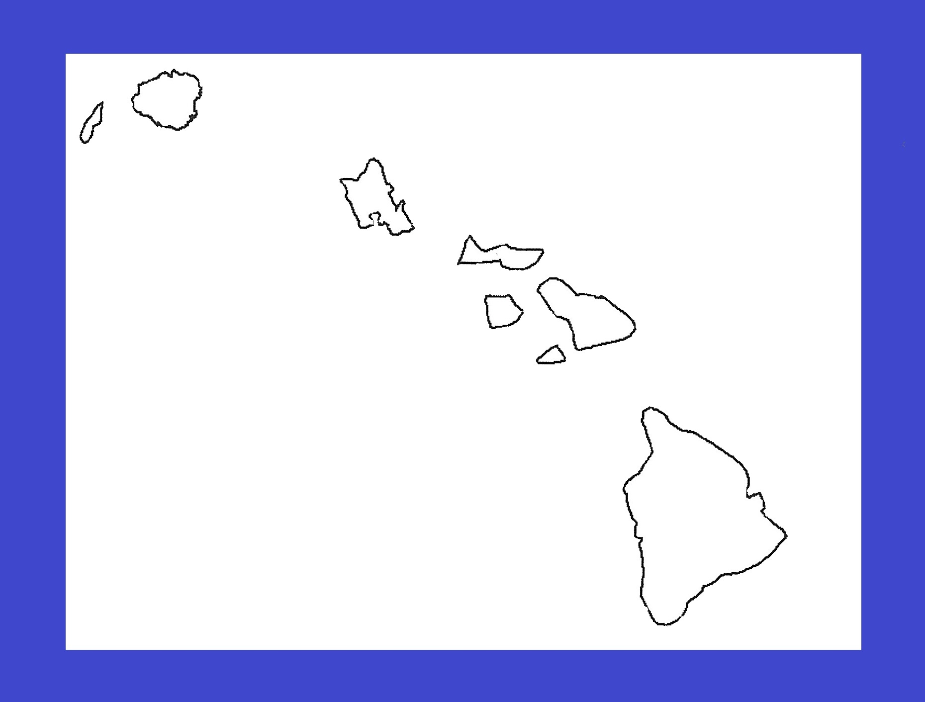 Hawaii Blank Outline Map | Large Printable and Standard Map 13