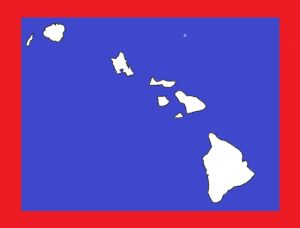Hawaii Blank Outline Map | Large Printable and Standard Map 19