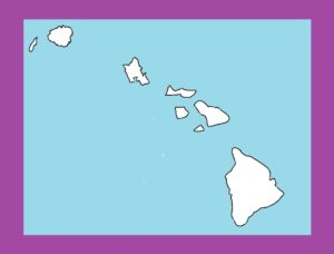 Hawaii Blank Outline Map | Large Printable and Standard Map 4