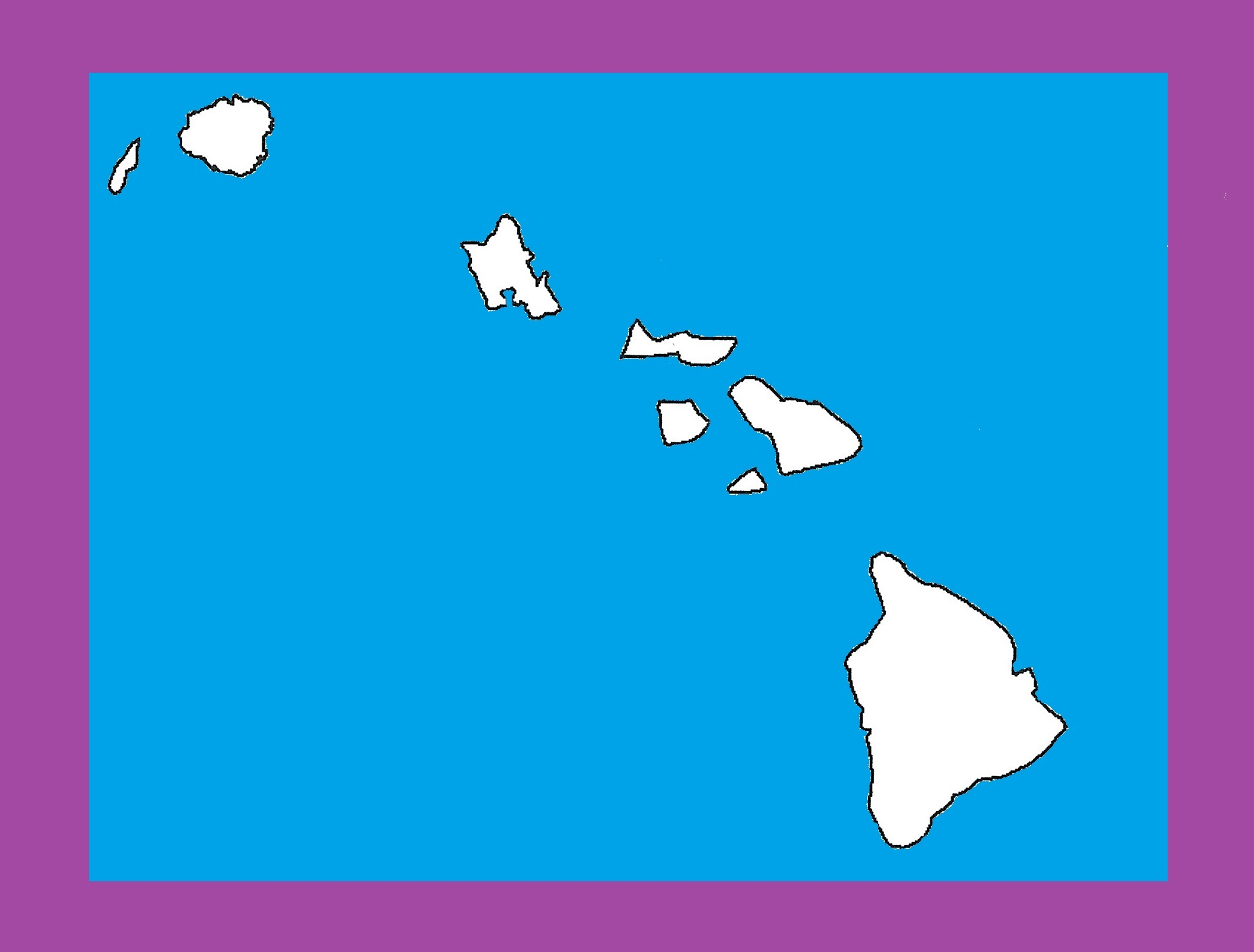Hawaii Blank Outline Map | Large Printable and Standard Map 6