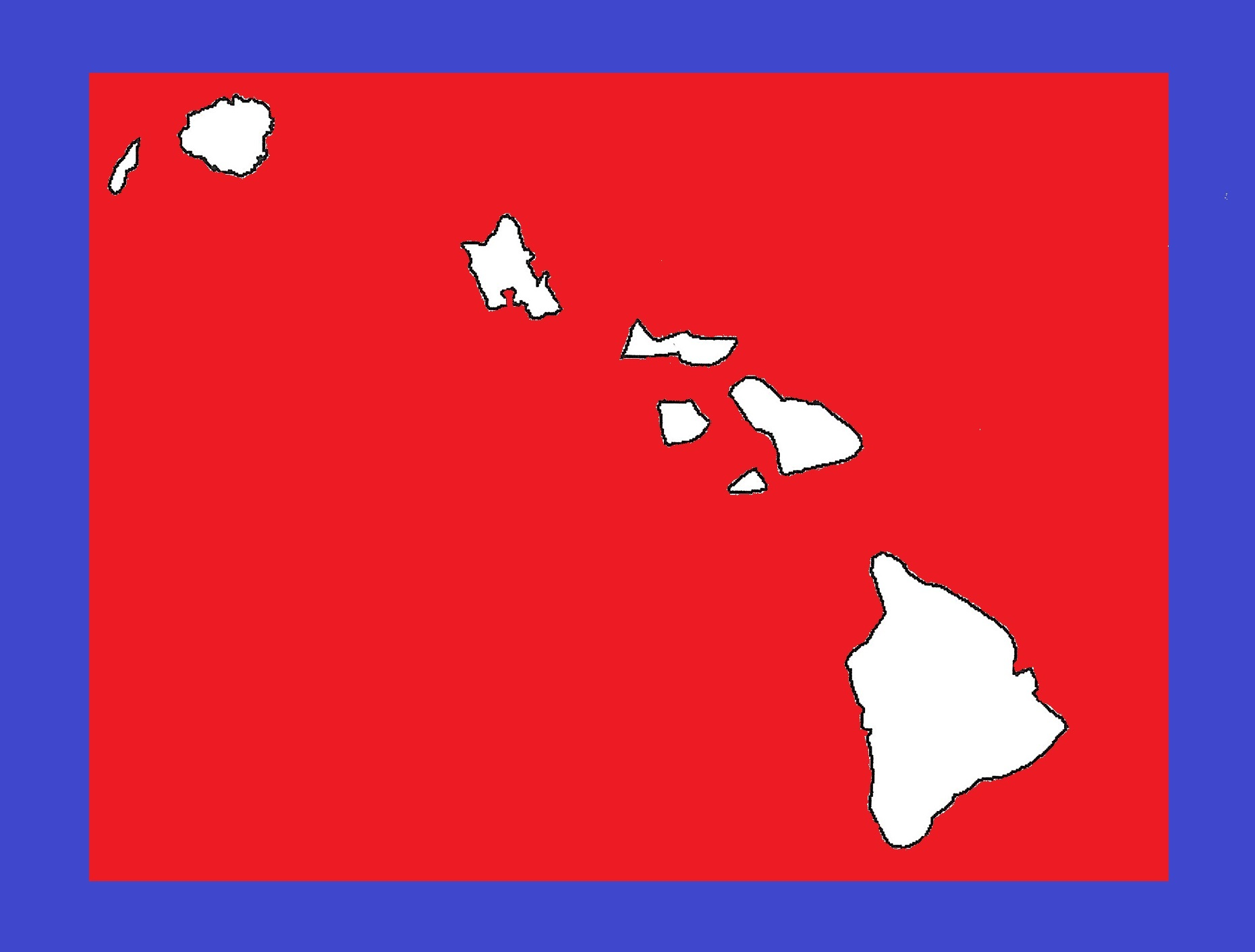 Hawaii Blank Outline Map   Large Printable and Standard Map 10