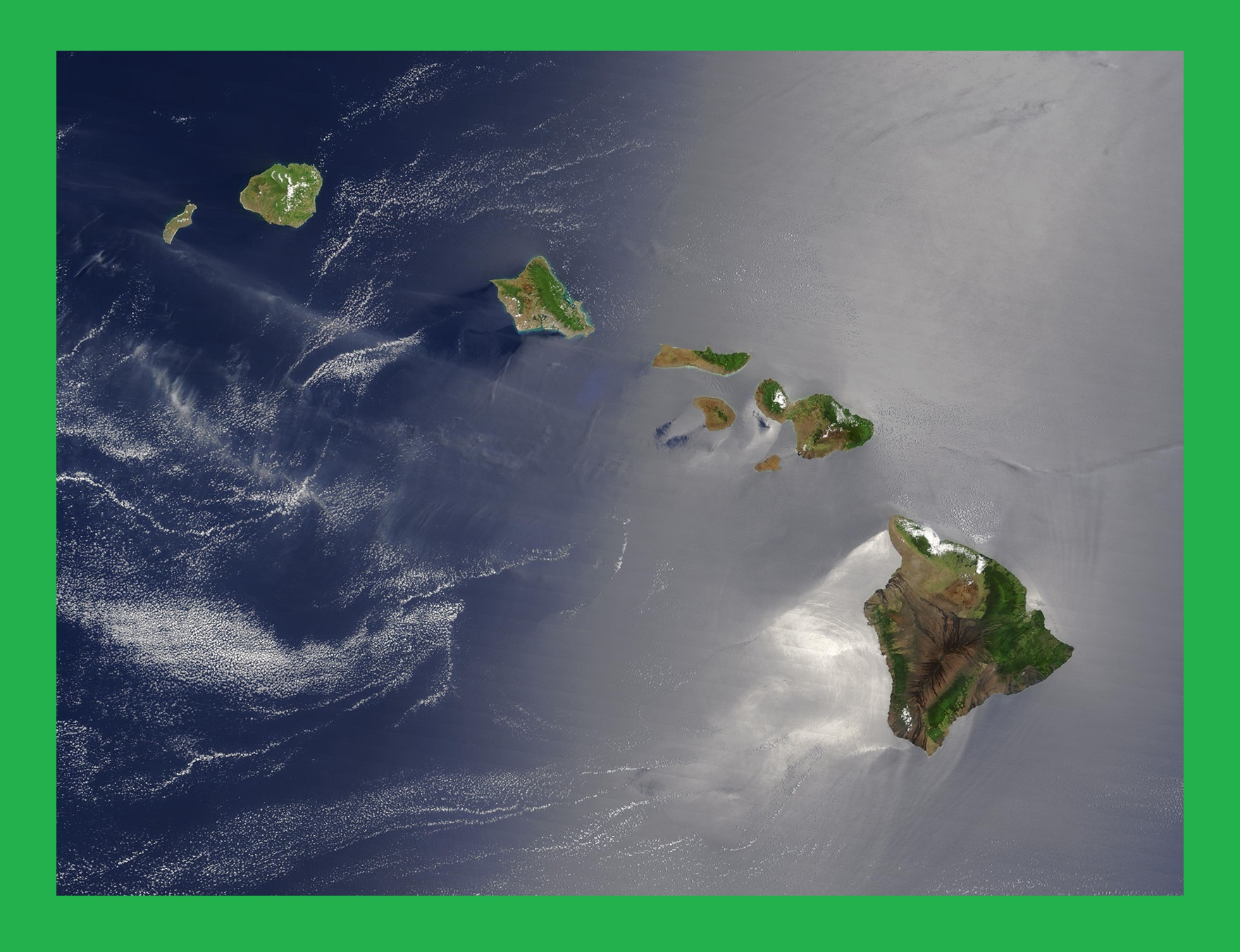 Hawaii Satellite Map | Large Printable and Standard Map 2