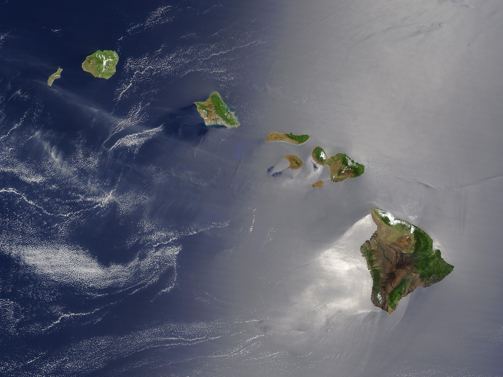 Hawaii Satellite Map | Large Printable and Standard Map