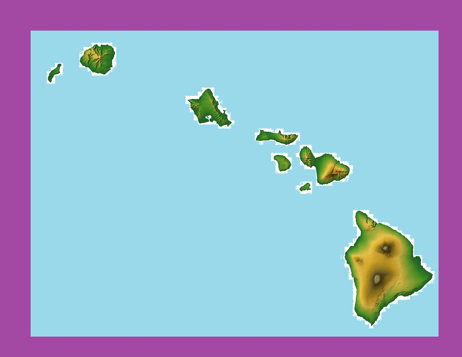 Hawaii Topographical Map | Large Printable and Standard Map 3