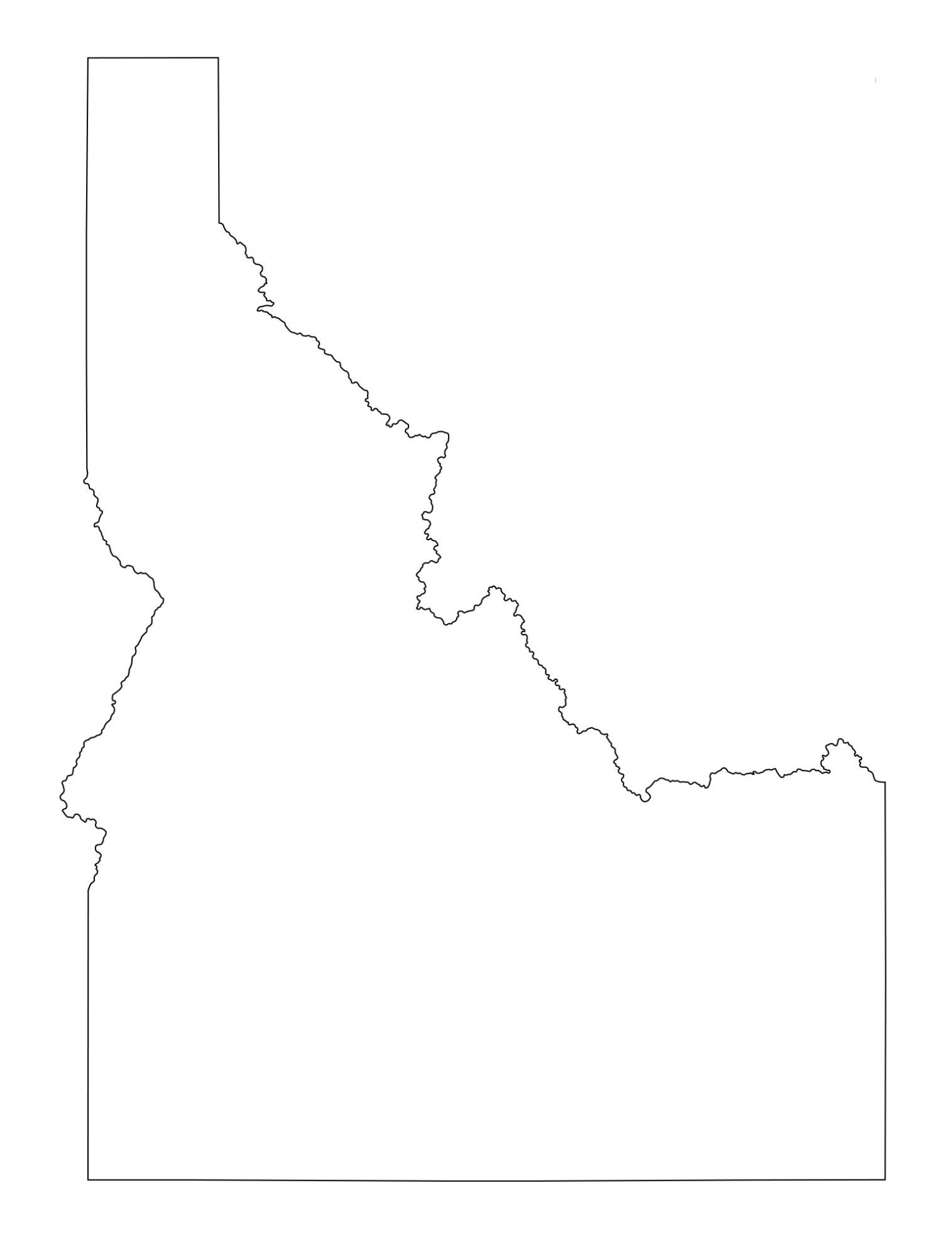 Idaho Blank Outline Map | Large Printable and Standard Map 12