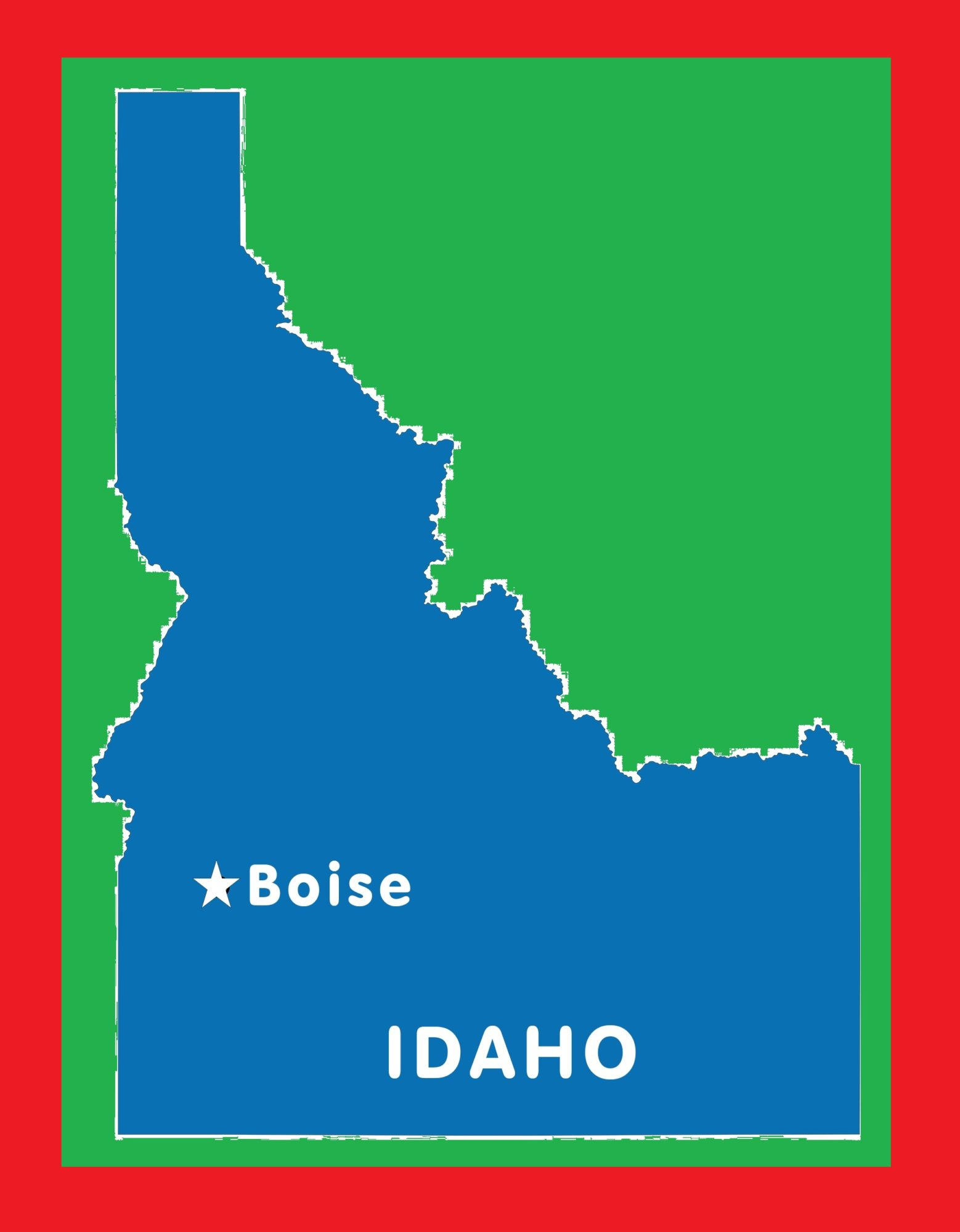 Idaho Capital Map | Large Printable and Standard Map 4