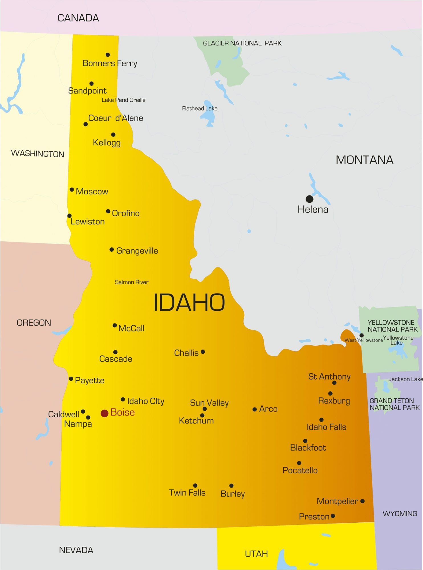 Idaho City Map | Large Printable and Standard Map 2