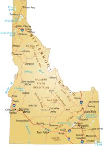 Idaho Details Map | Large Printable and Standard Map 2