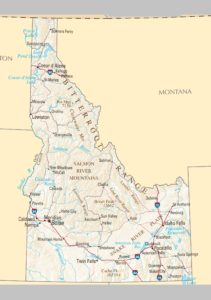 Political Map of Idaho | Large Printable and Standard Map