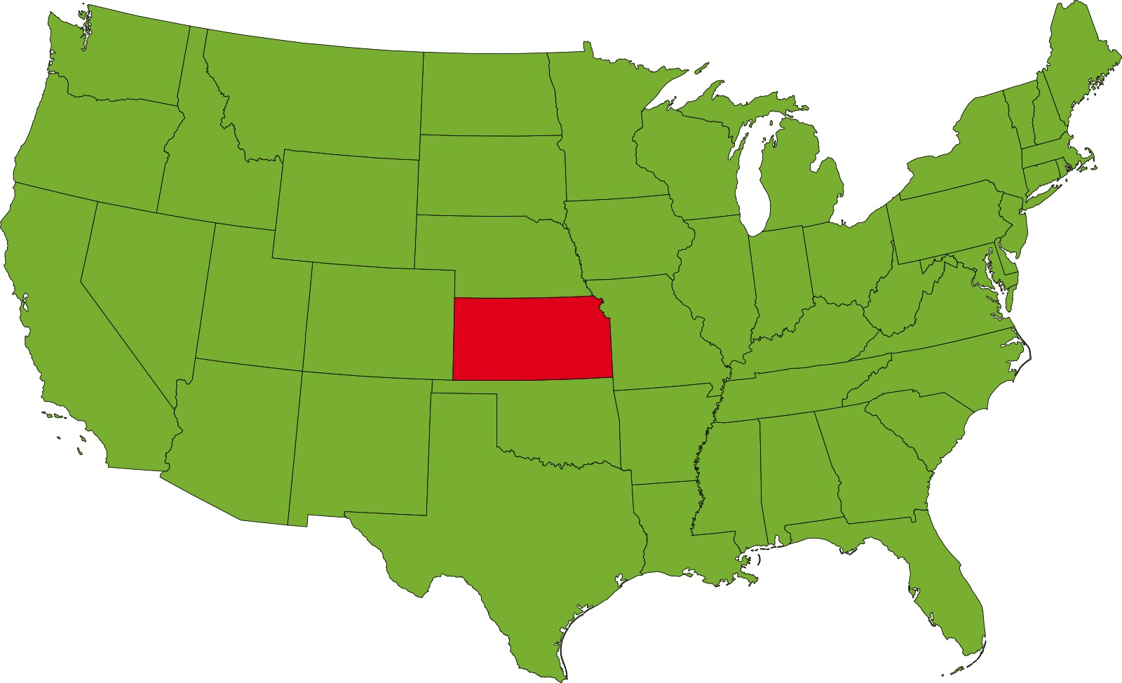 Kansas Location Map   Large Printable High Resolution and Standard Map