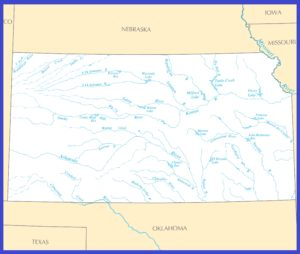Kansas Rivers Map | Large Printable High Resolution and Standard Map