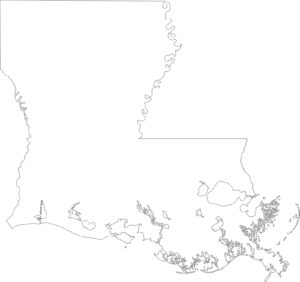 Louisiana Blank Outline Map | Large Printable High Resolution Map