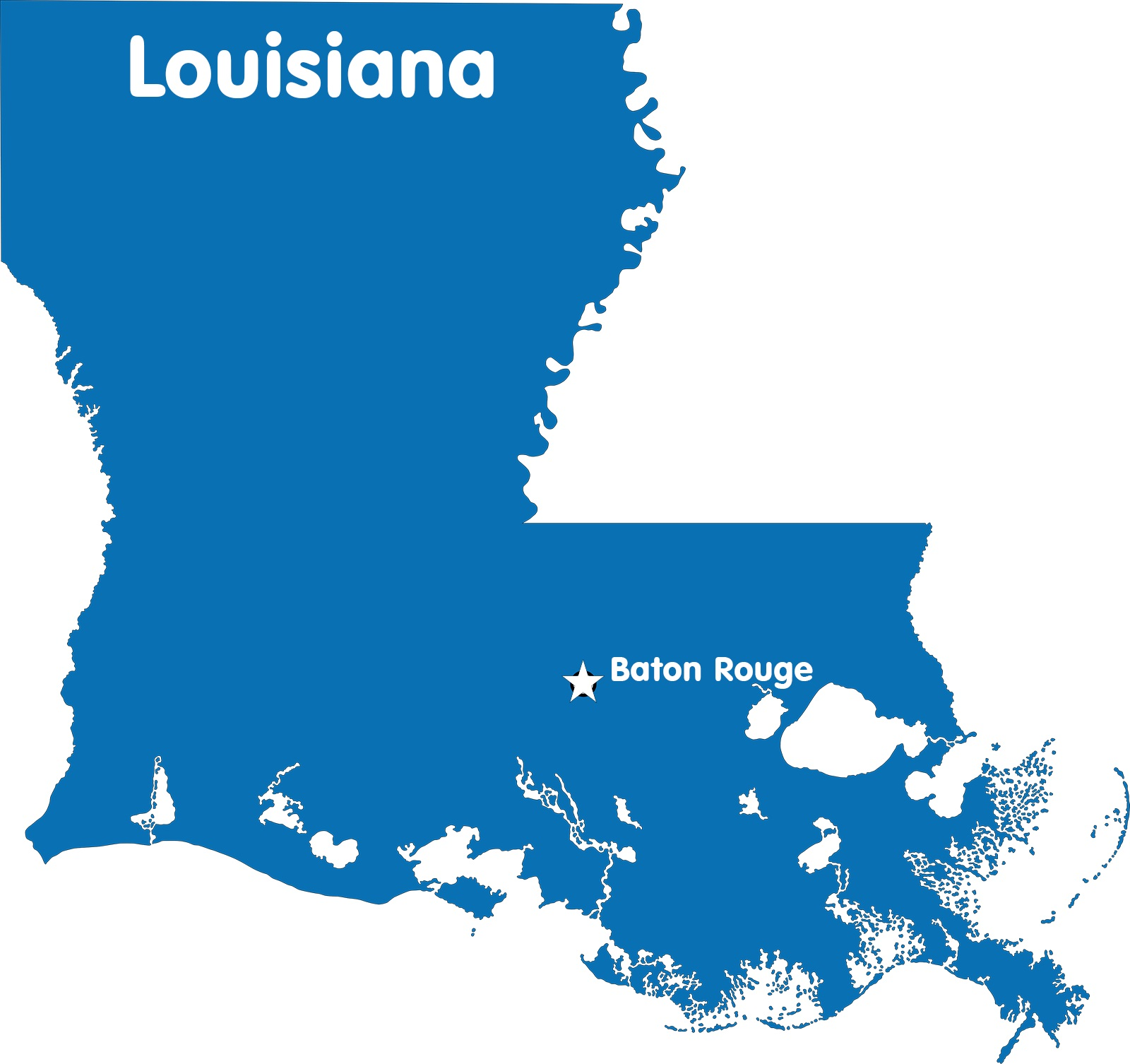 Louisiana Capital Map | Large Printable High Resolution and Standard Map