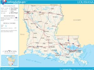 Louisiana Political Map | Large Printable High Resolution and Standard Map