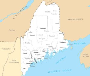 Maine City Map   Large Printable High Resolution City Map of Maine