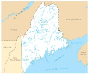 Maine Rivers Map   Large Printable High Resolution and Standard Map