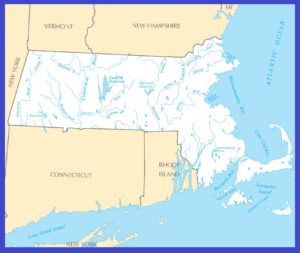Massachusetts Rivers Map | Large Printable High Resolution and Standard Map