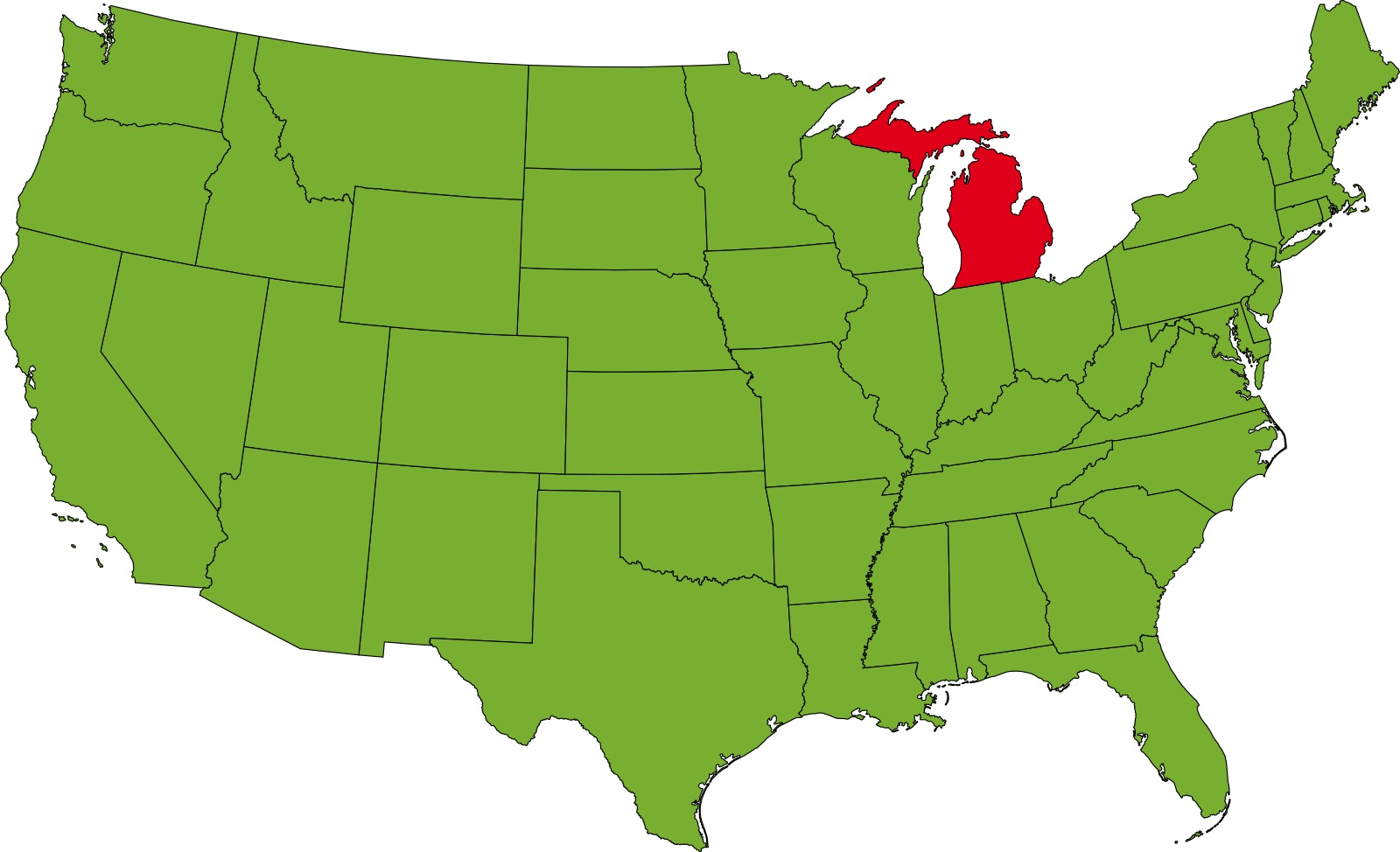 Michigan Location Map   Large Printable High Resolution and Standard Map