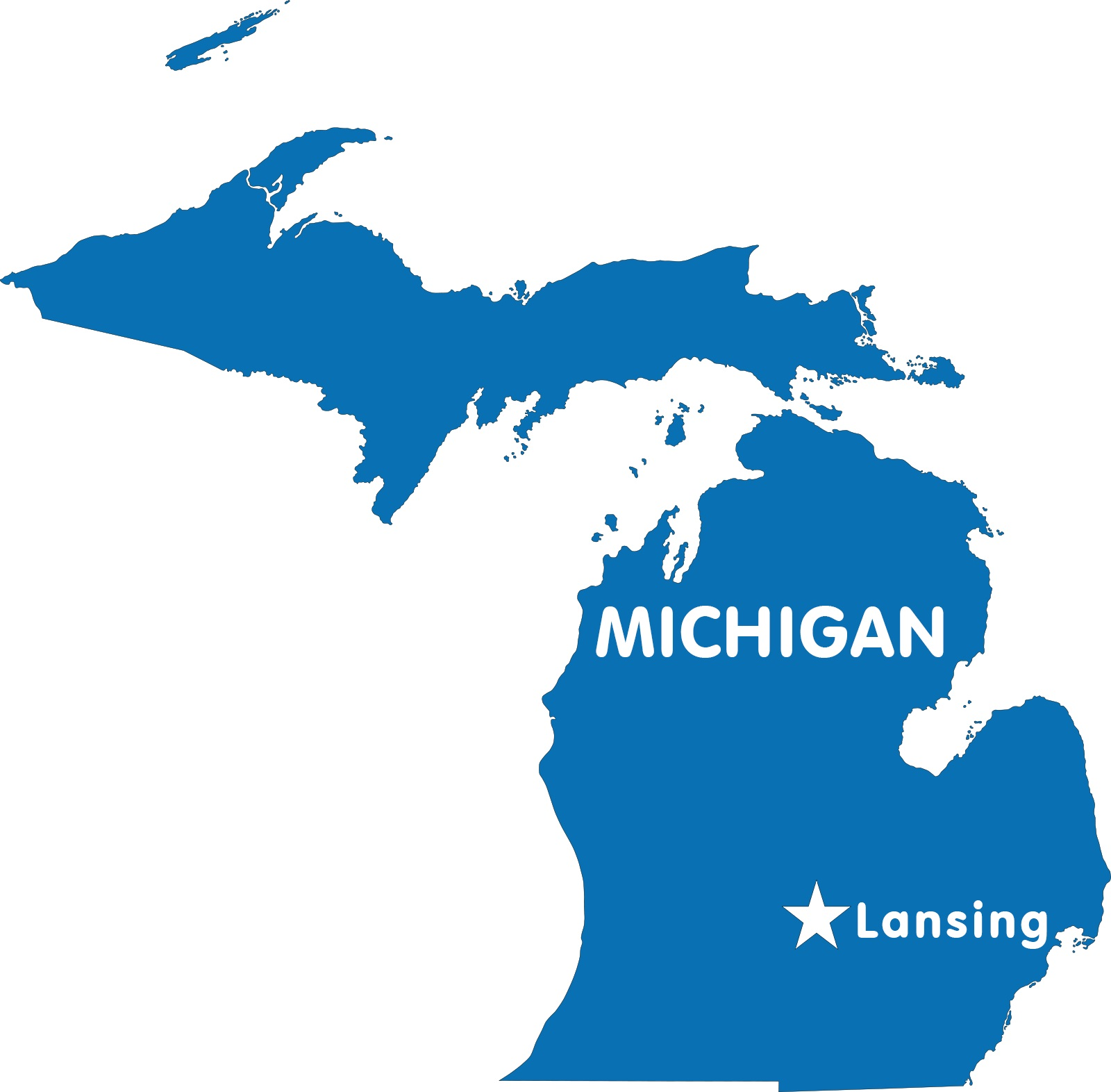 Michigan Capital Map | Large Printable High Resolution and Standard Map