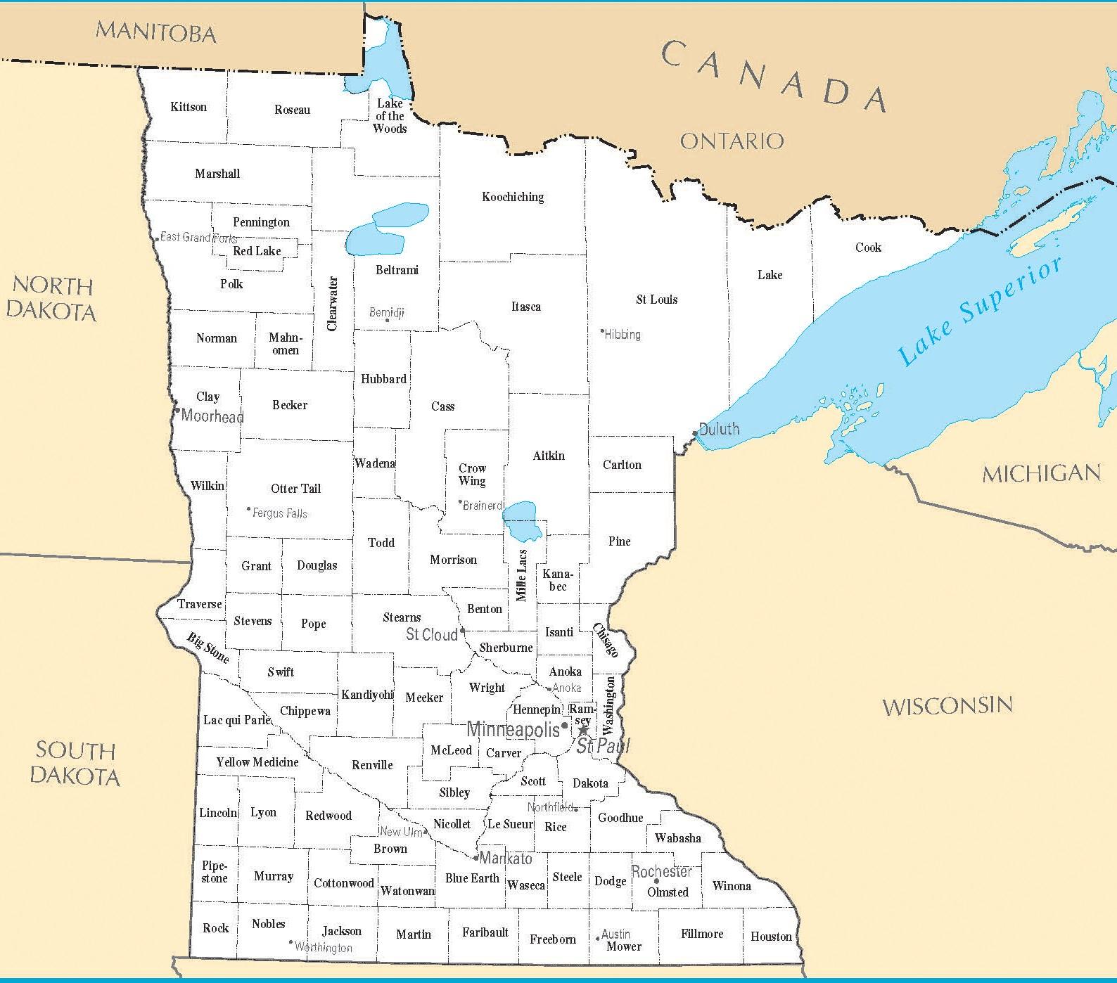 Minnesota City Map | Large Printable High Resolution and Standard Map