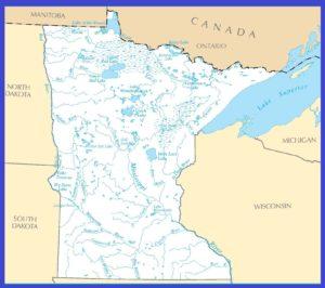 Minnesota Rivers Map | Large Printable High Resolution and Standard Map