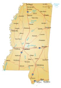 Mississippi Details Map | Large Printable High Resolution and Standard Map