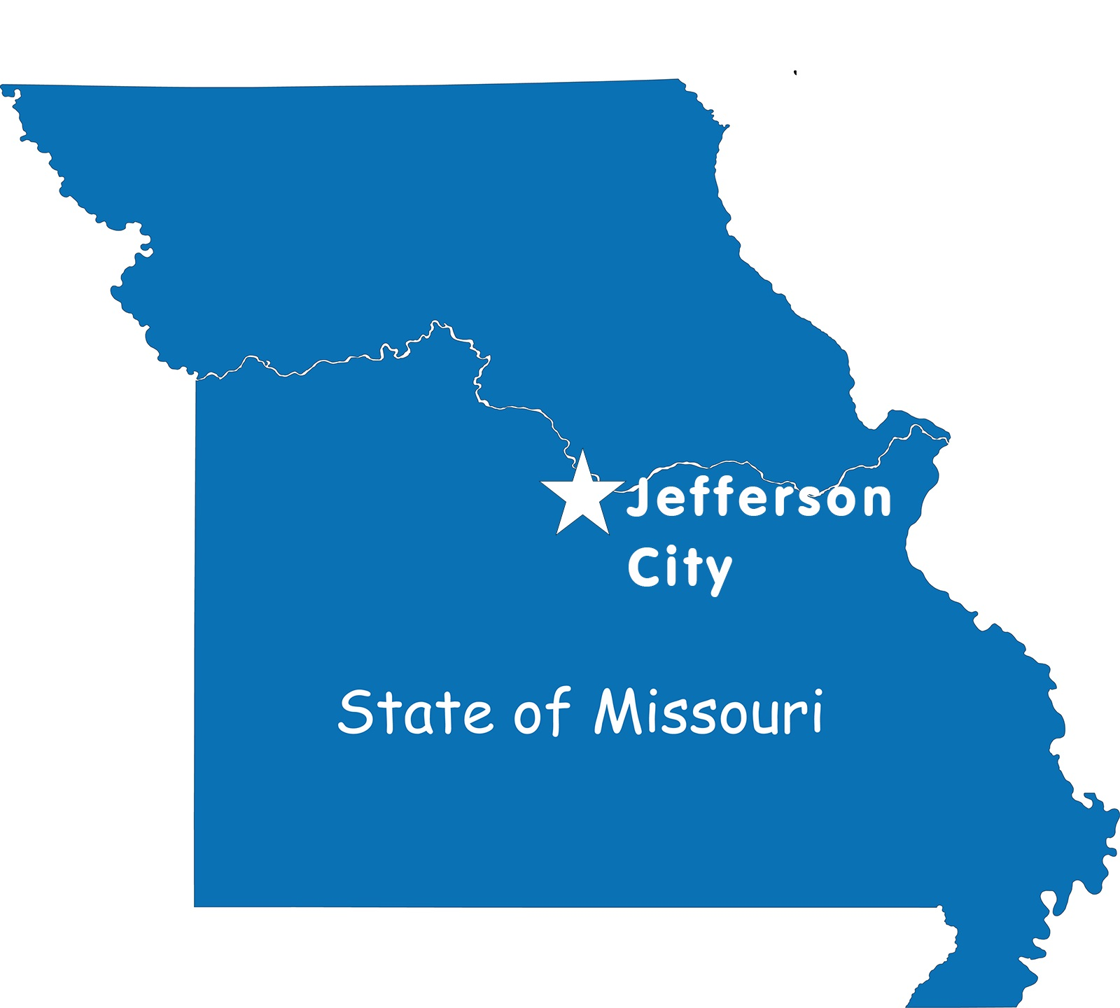 Missouri Capital Map   Large Printable High Resolution and Standard Map